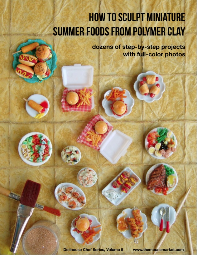 DIY Tutorial How to Sculpt Miniature Summer Foods from Polymer Clay by The Mouse Market