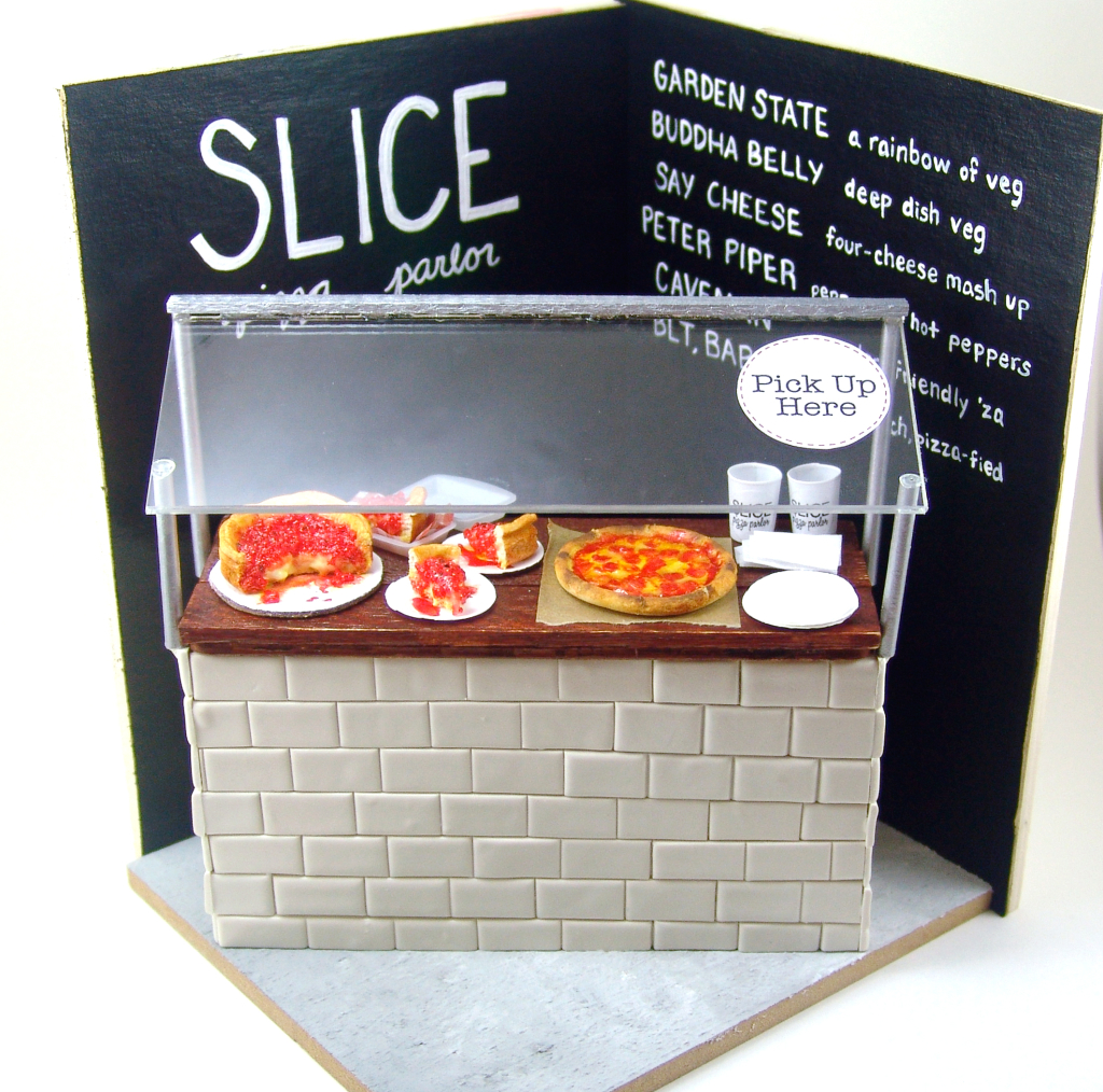 Miniature pizza parlor by The Mouse Market