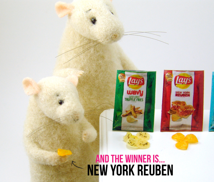 Mice taste test chips by The Mouse Market