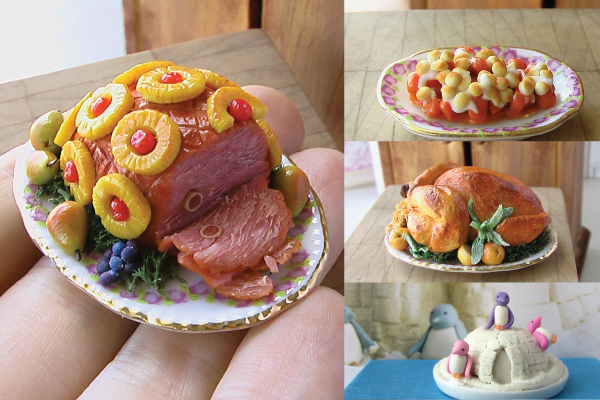 sculpting miniature holiday foods tutorial