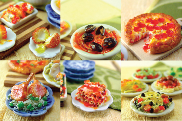 how to sculpt miniature italian foods from polymer clay