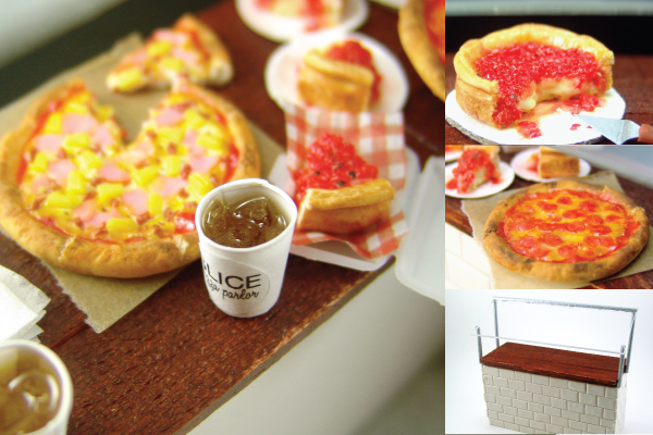 how to make dollhouse miniature pizza