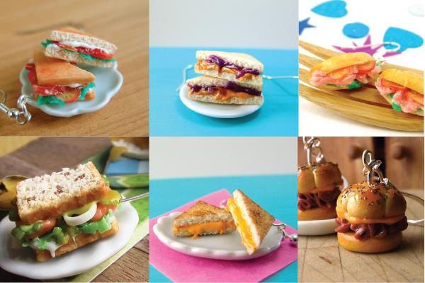 how to sculpt miniature sandwiches