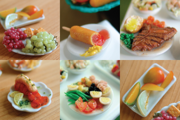 how to sculpt polymer clay summer food
