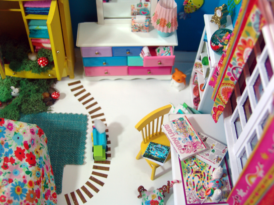 modern dollhosue bedroom by The Mouse Market