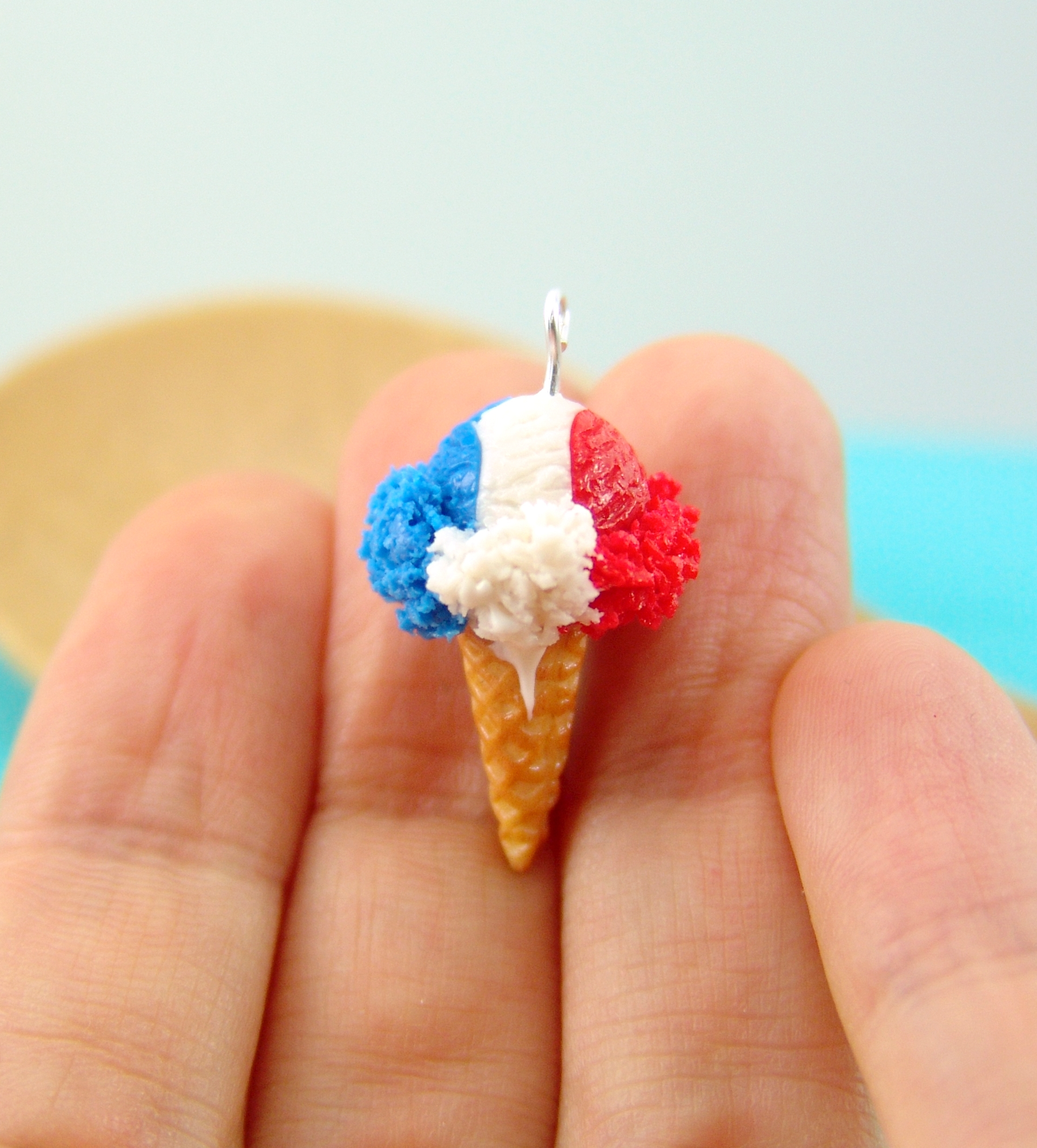 fourth of july ice cream earrings by The Mouse Market