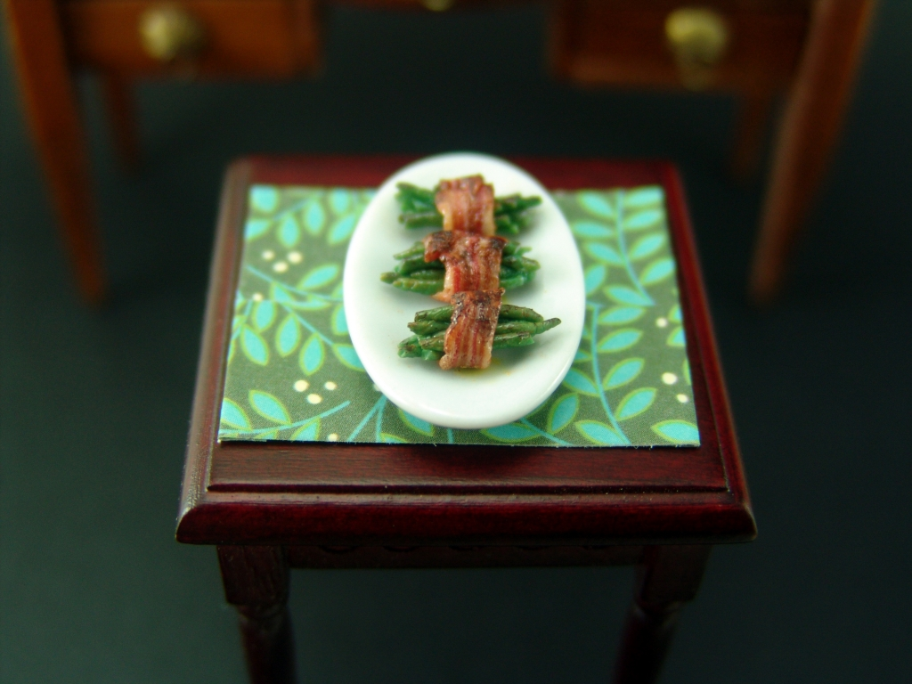 bacon green beans miniature