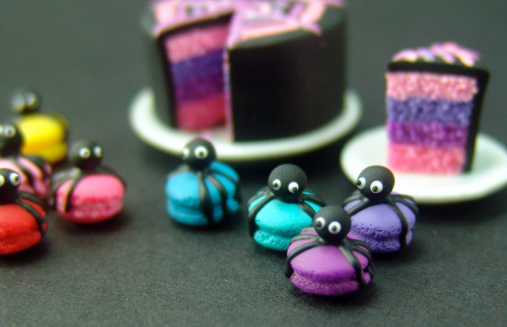 dollhouse miniature macarons
